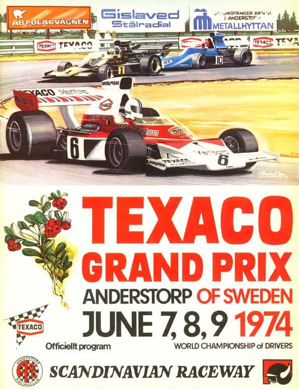 1974 formula 1 world championship programmes the motor racing programme covers project. Black Bedroom Furniture Sets. Home Design Ideas