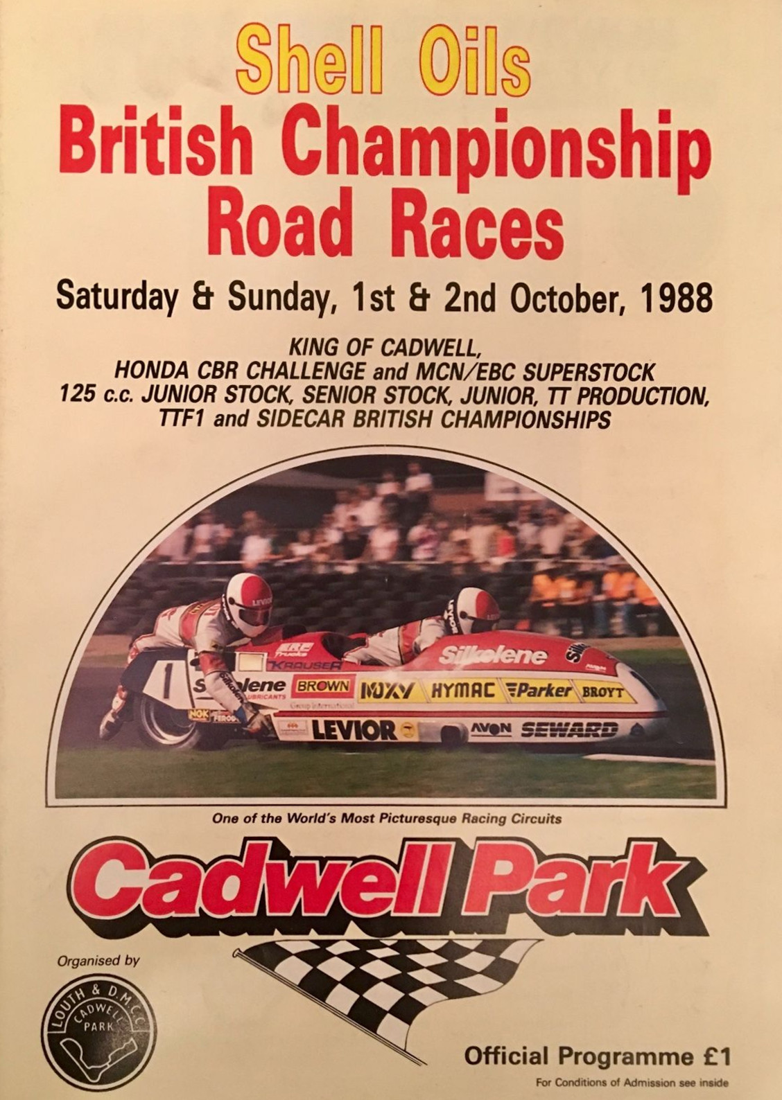 Cadwell Park Circuit, 02/10/1988