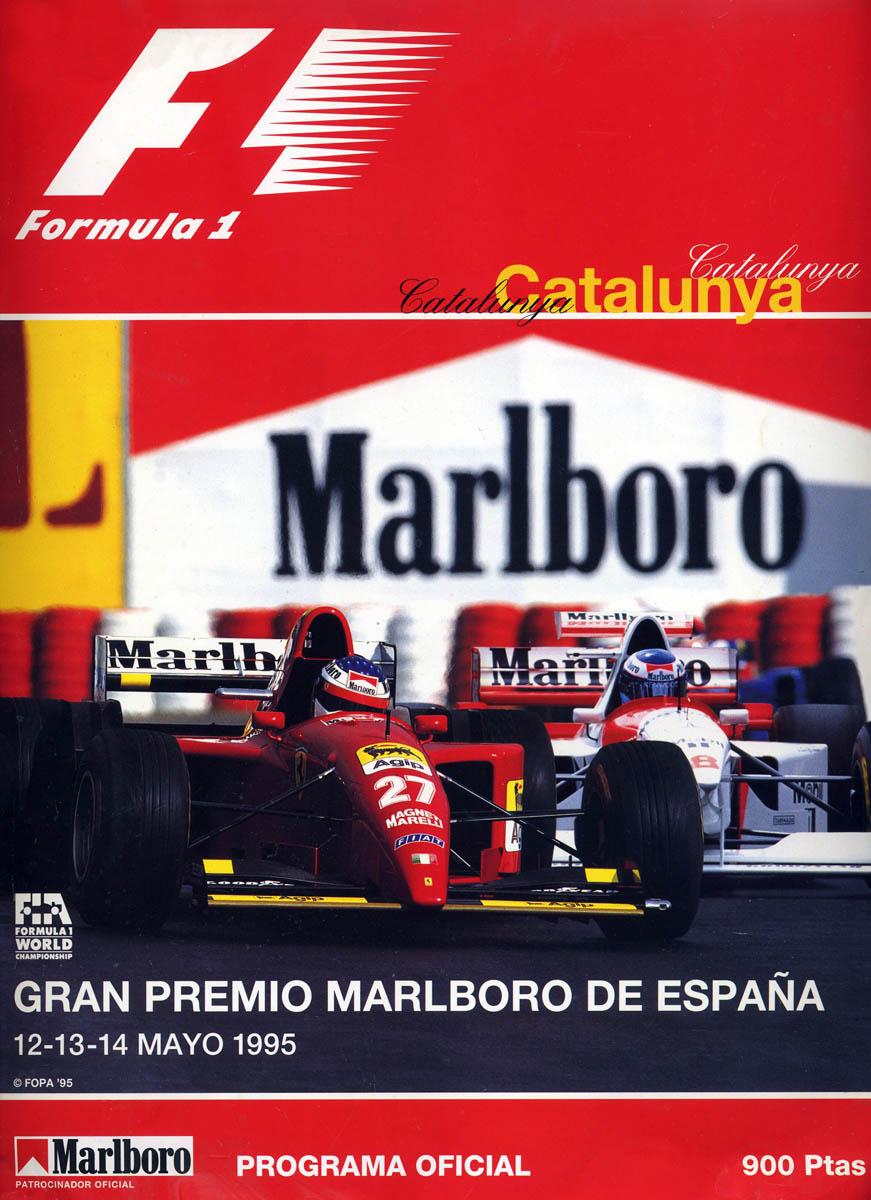 1995 formula 1 world championship programmes the motor racing programme covers project. Black Bedroom Furniture Sets. Home Design Ideas