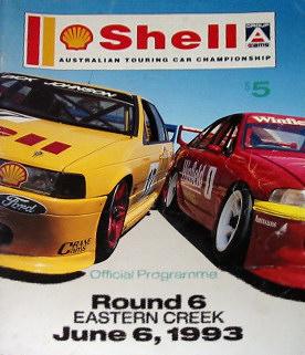 1993 Australian Touring Car Championship Programmes The