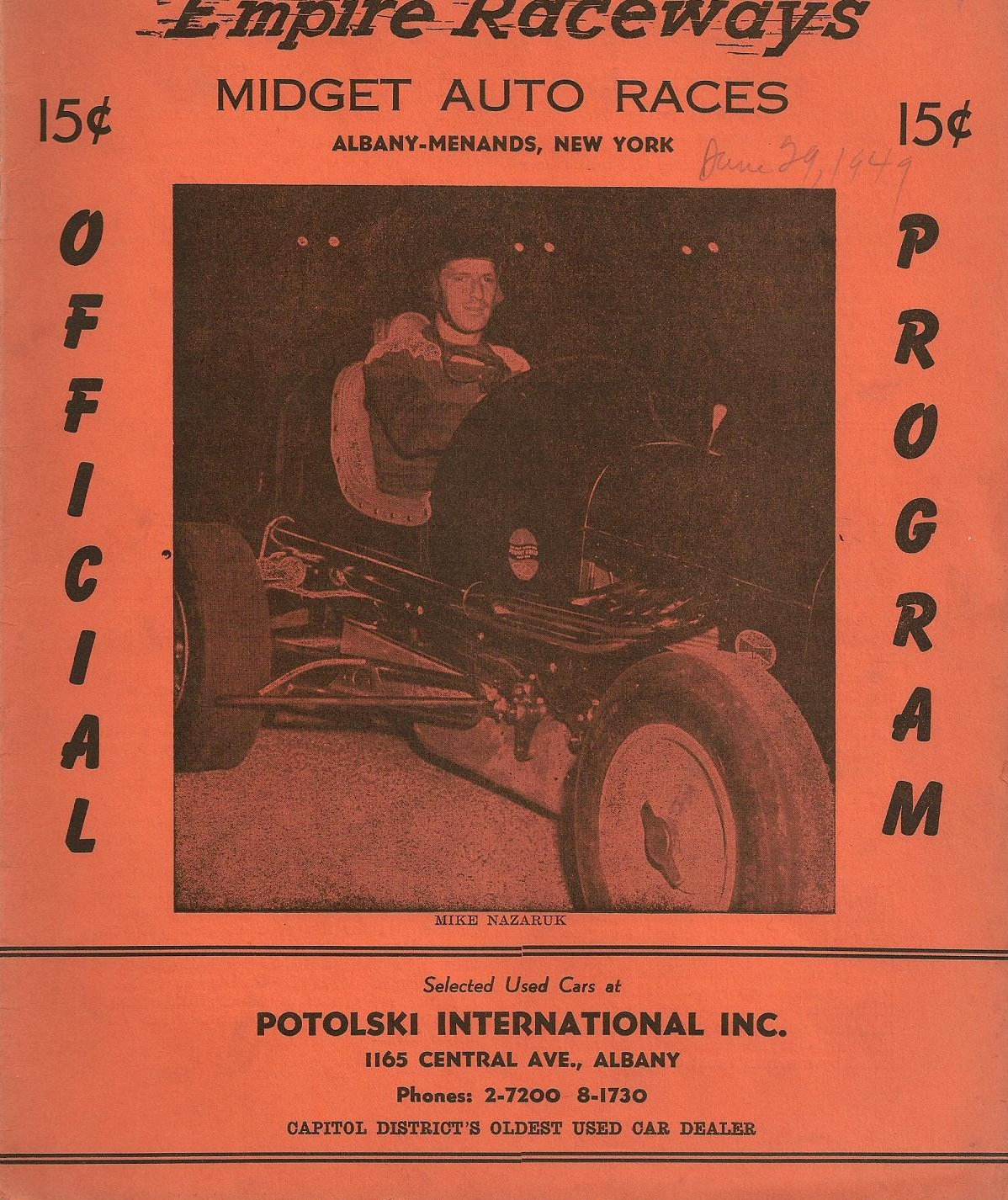 Empire Raceways   The Motor Racing Programme Covers Project