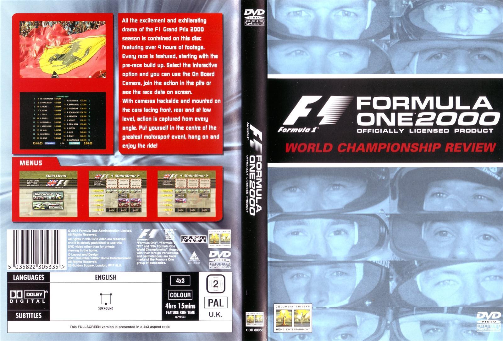 Grand Prix Racing >> Formula 1 Review DVD/VCRs   The Motor Racing Programme ...