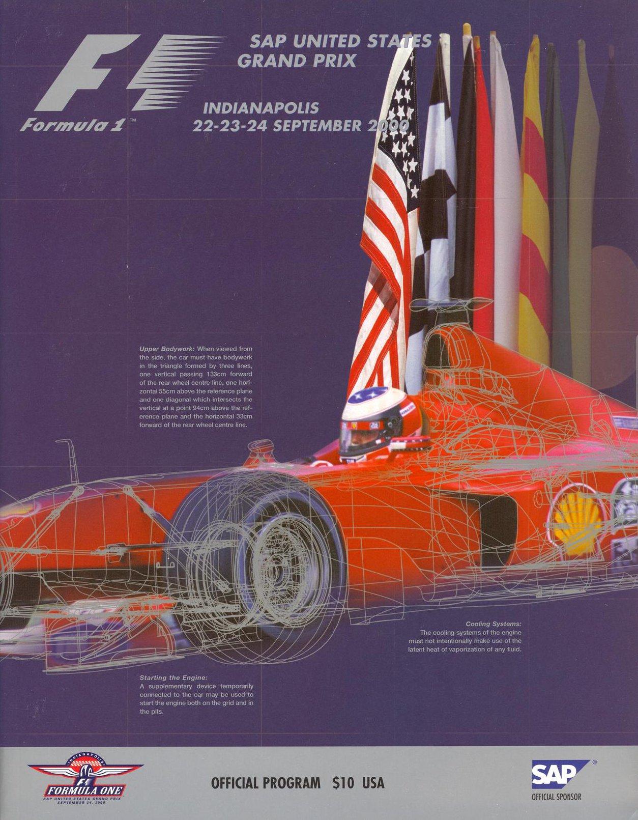 2000 formula 1 world championship programmes the motor racing programme covers project. Black Bedroom Furniture Sets. Home Design Ideas