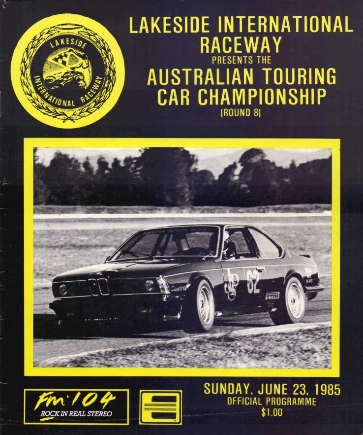 Champion Motors International: 1985 Australian Touring Car Championship Programmes