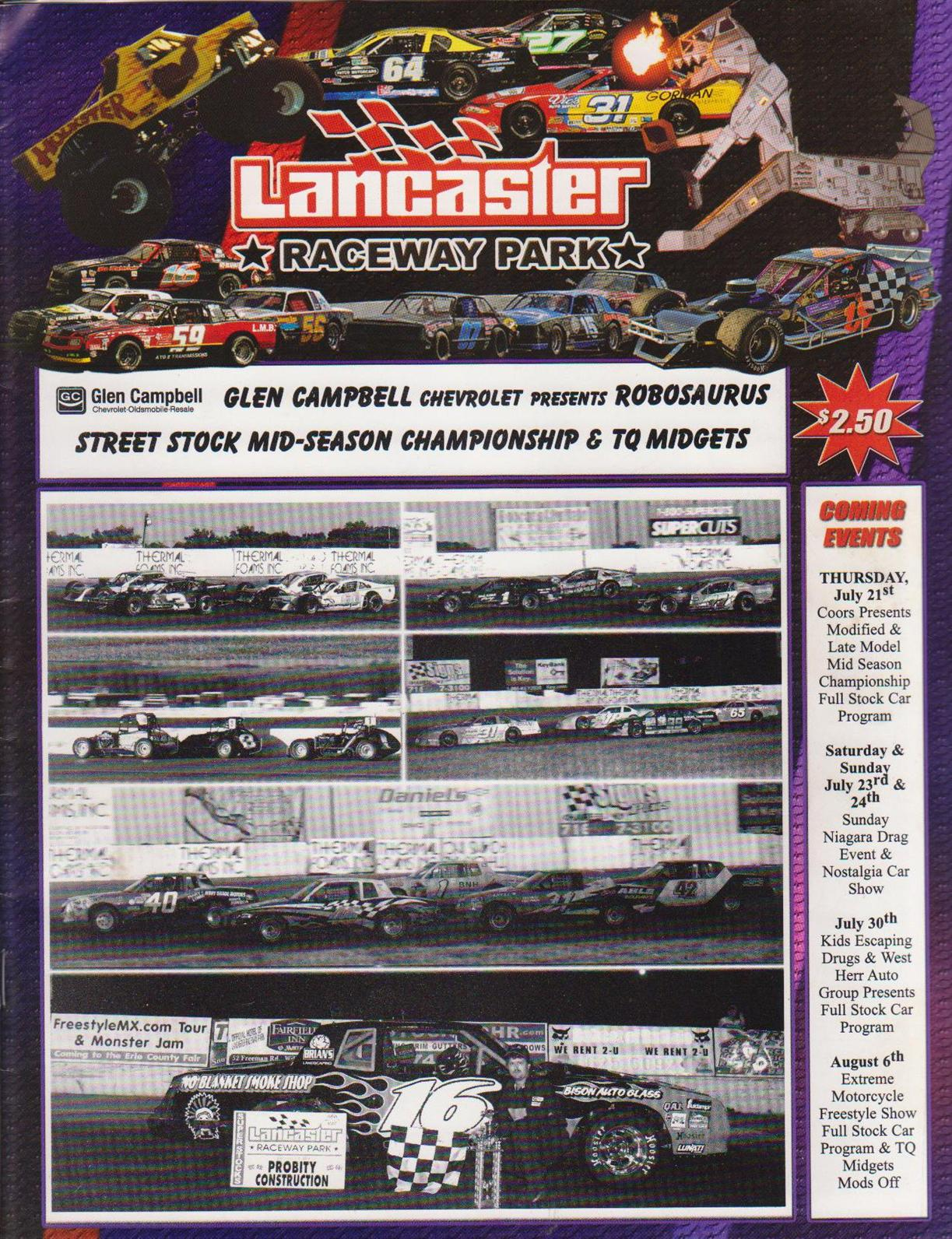 Lancaster raceway park the motor racing programme covers for Lancaster county motors used
