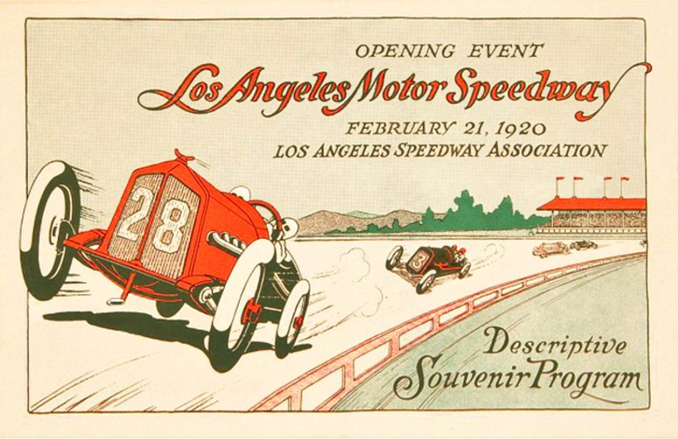 Los angeles speedway the motor racing programme covers for Los angeles motor speedway