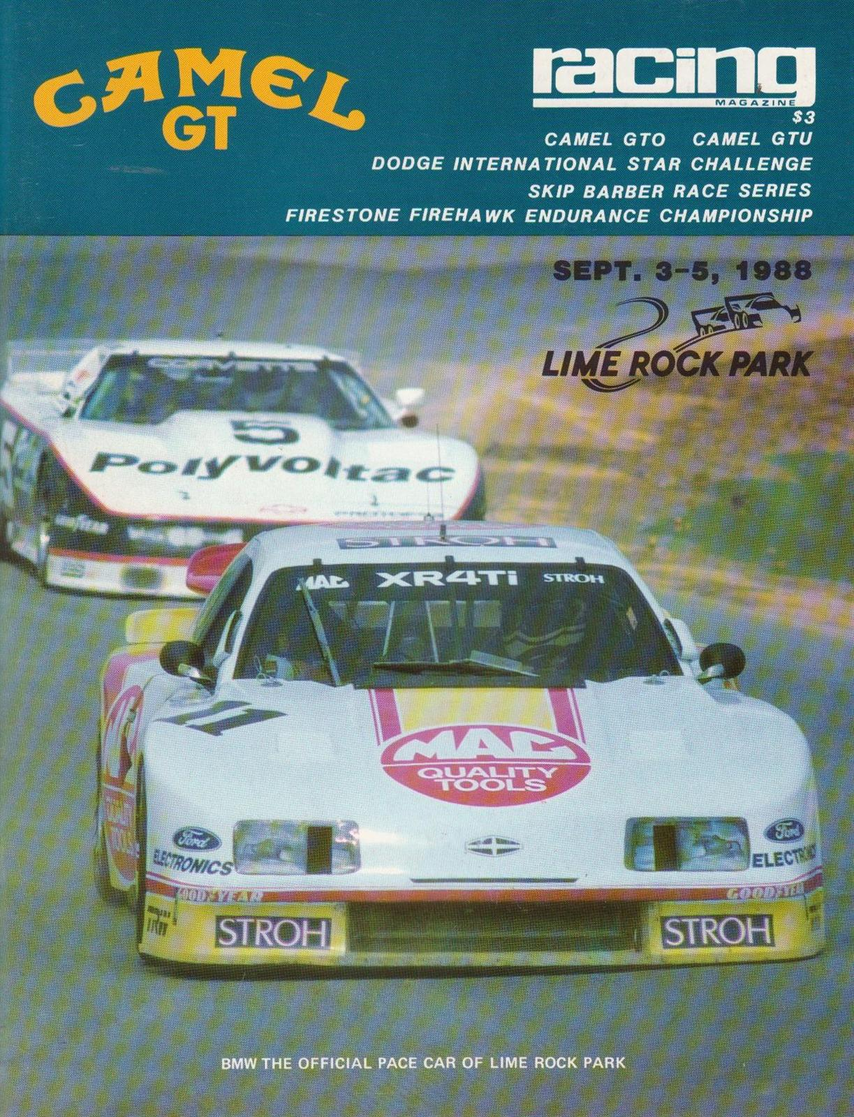Mid Ohio Raceway >> 1988 IMSA GT Championship Programmes | The Motor Racing Programme Covers Project
