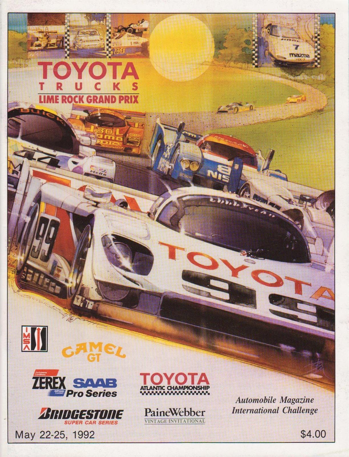 Laguna Seca Raceway >> 1992 IMSA GT Championship Programmes | The Motor Racing Programme Covers Project