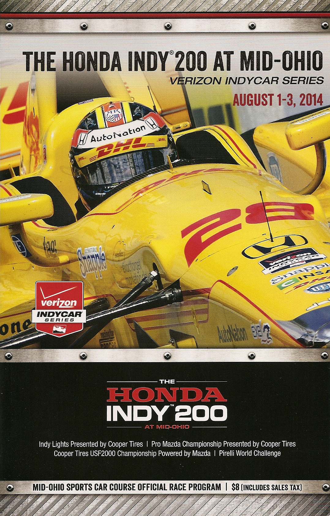 Barber Motorsports Park >> 2014 IndyCar Series Programmes   The Motor Racing Programme Covers Project