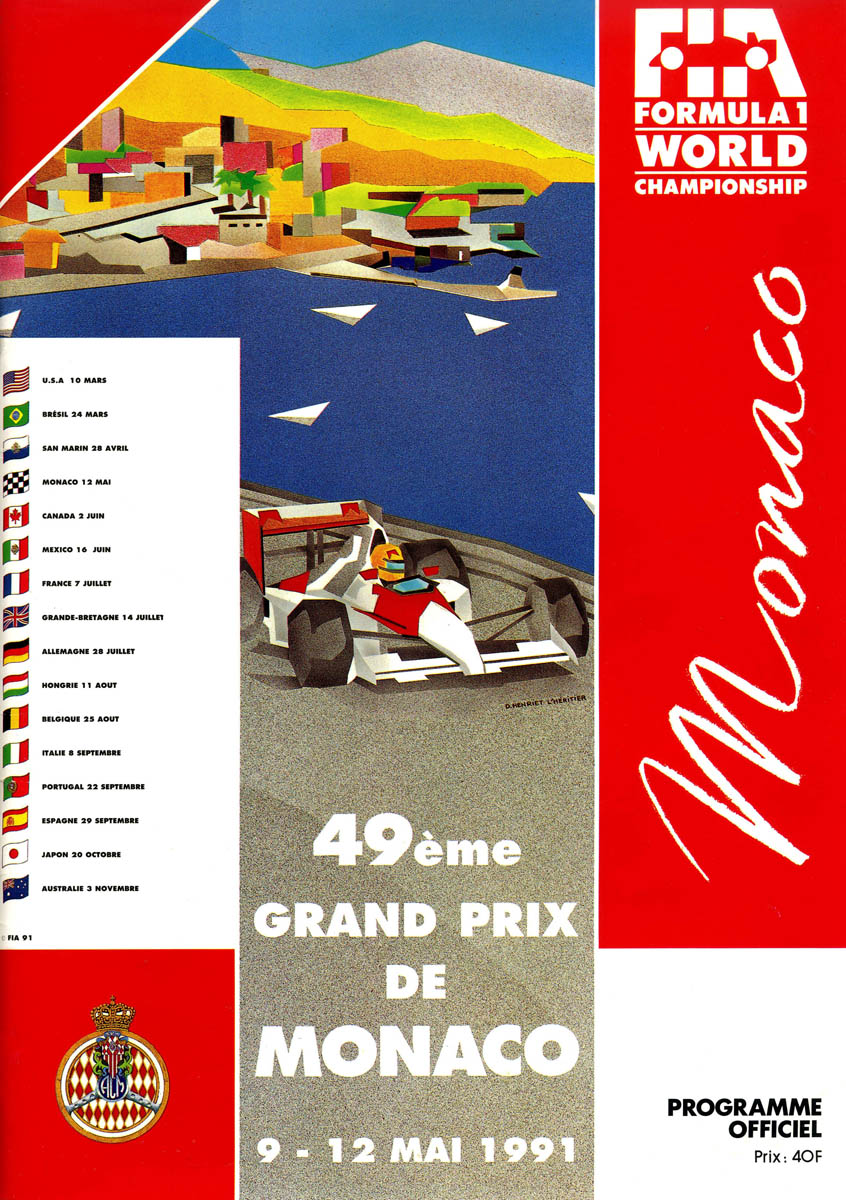 1991 formula 1 world championship programmes the motor racing programme covers project. Black Bedroom Furniture Sets. Home Design Ideas