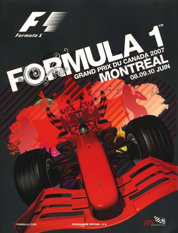 2007 formula 1 world championship programmes the motor racing programme covers project. Black Bedroom Furniture Sets. Home Design Ideas