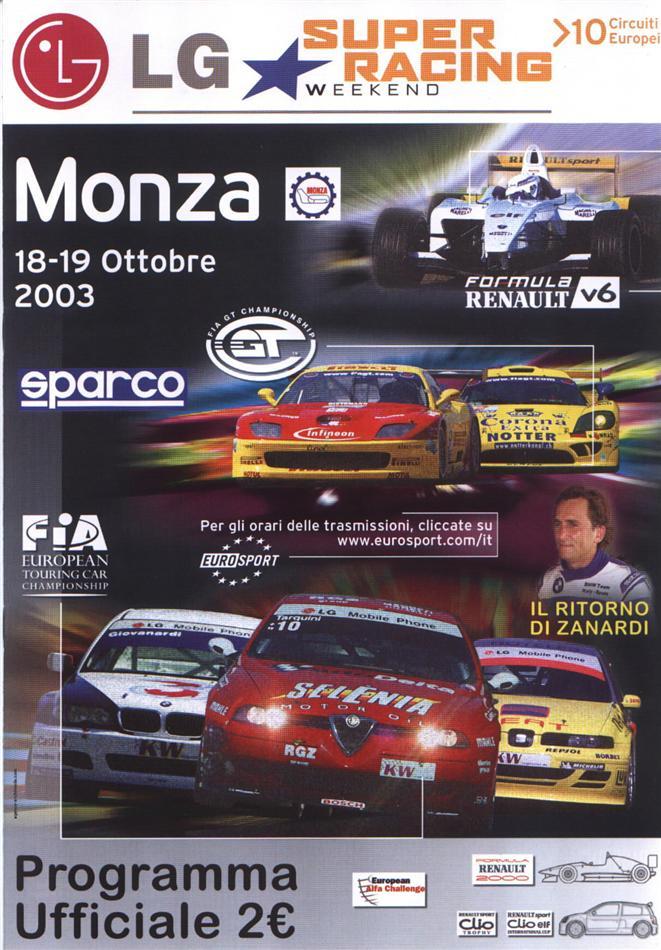 2003 Fia Gt Championship Programmes The Motor Racing
