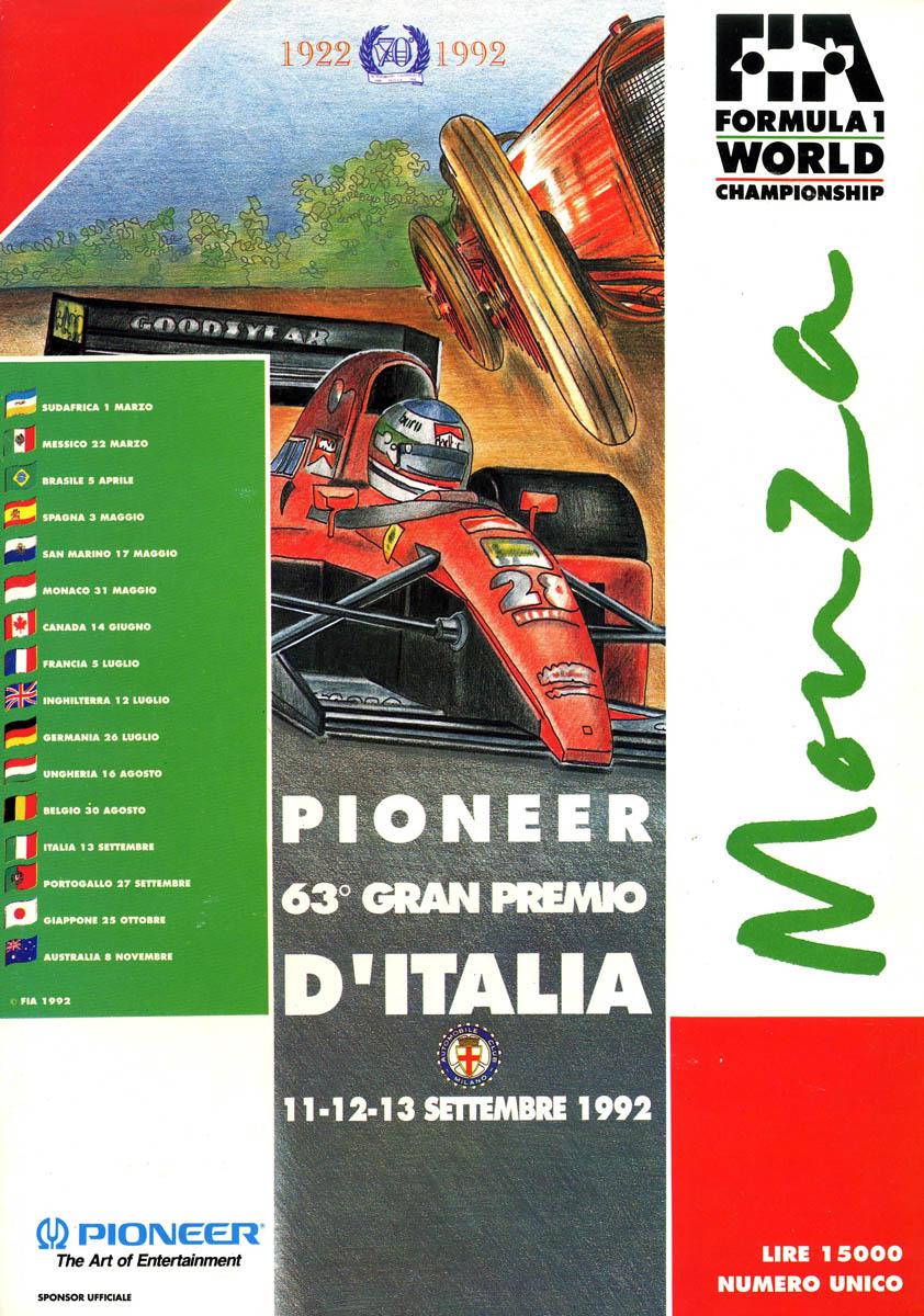 1992 Italian Grand Prix Wikipedia