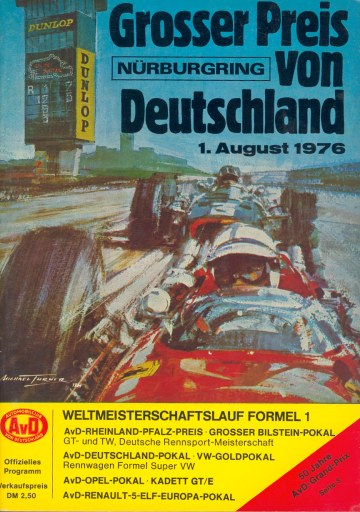 1976 Formula 1 World Championship Programmes The Motor