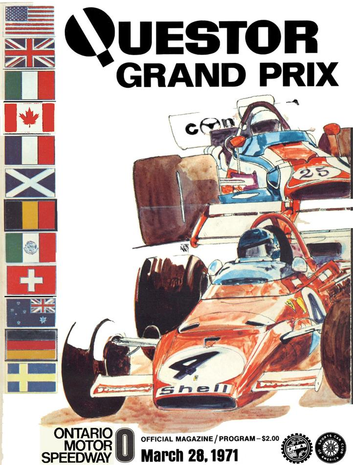 1971 north american f5000 programmes the motor racing for Ontario motor speedway california