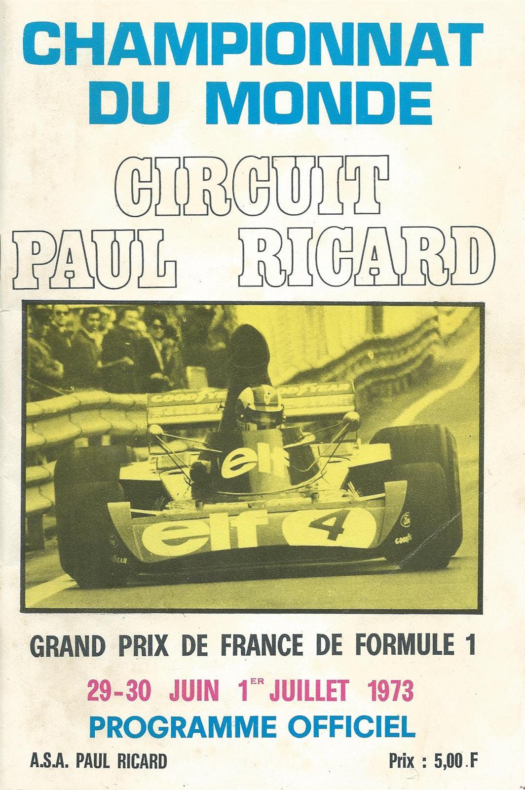 1973 formula 1 world championship programmes the motor racing programme covers project. Black Bedroom Furniture Sets. Home Design Ideas
