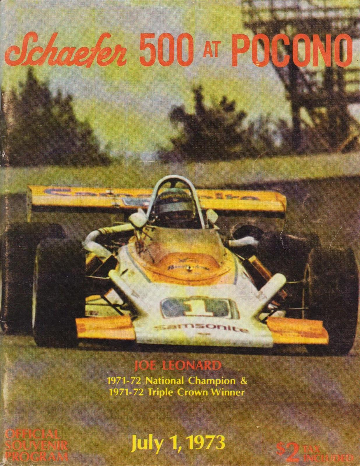 1973 Usac National Championship Programmes The Motor