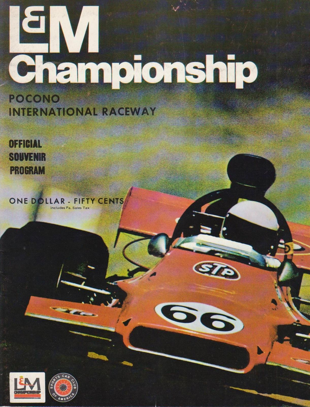 1973 North American F5000 Programmes The Motor Racing