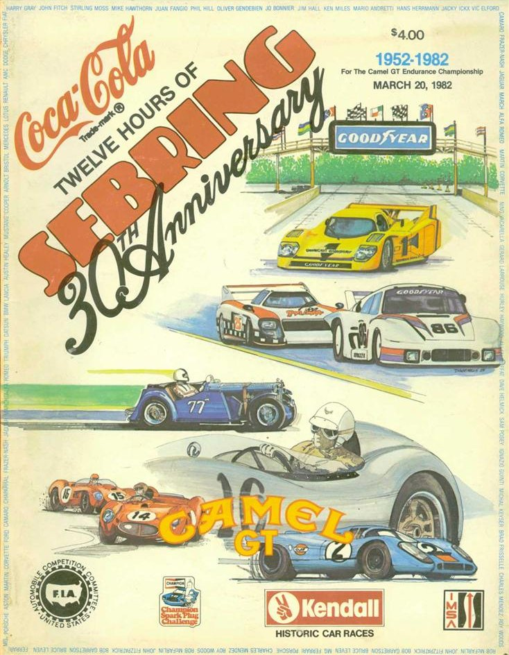 1982 Imsa Gt Championship Programmes The Motor Racing