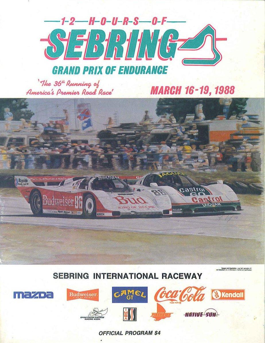 1988 Imsa Gt Championship Programmes The Motor Racing