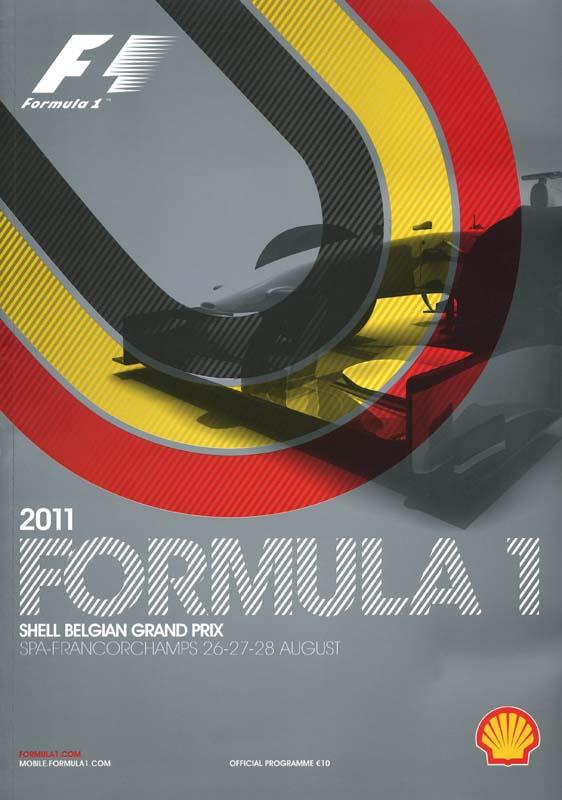 2011 formula 1 world championship programmes the motor racing programme covers project. Black Bedroom Furniture Sets. Home Design Ideas