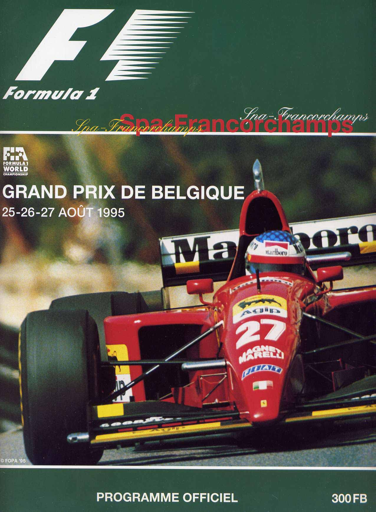 Can Am Car >> 1995 Formula 1 World Championship Programmes | The Motor Racing Programme Covers Project