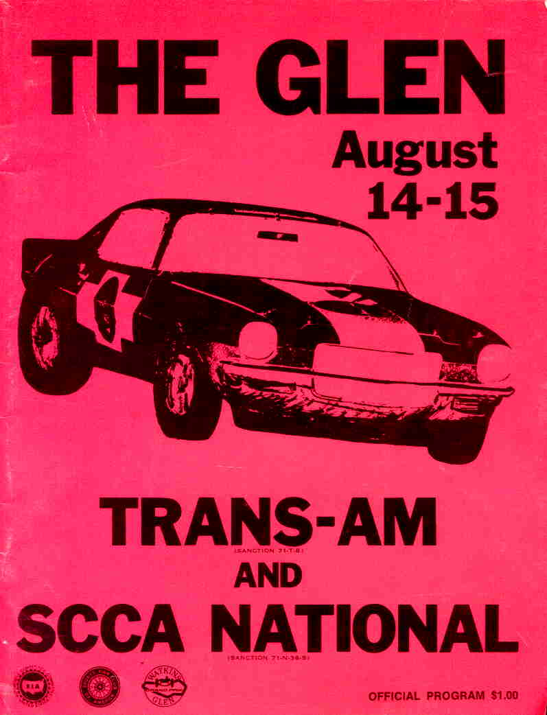 Mid Ohio Raceway >> 1971 Trans-Am Series Programmes | The Motor Racing ...