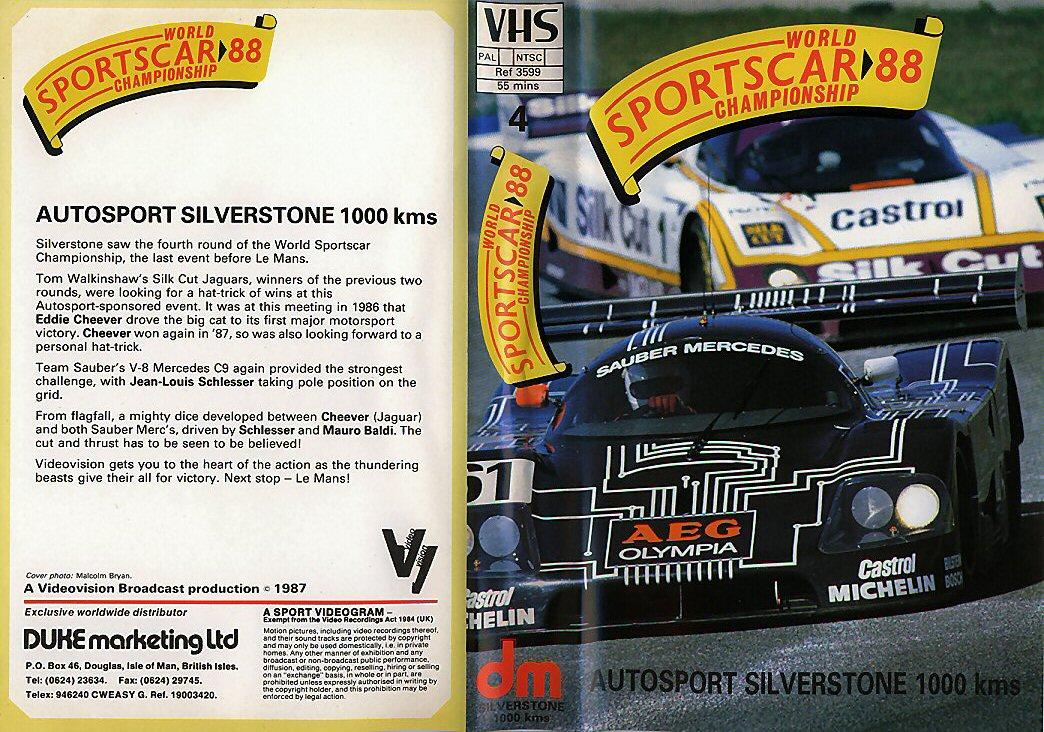 Silverstone World Sportscar Championship 1988