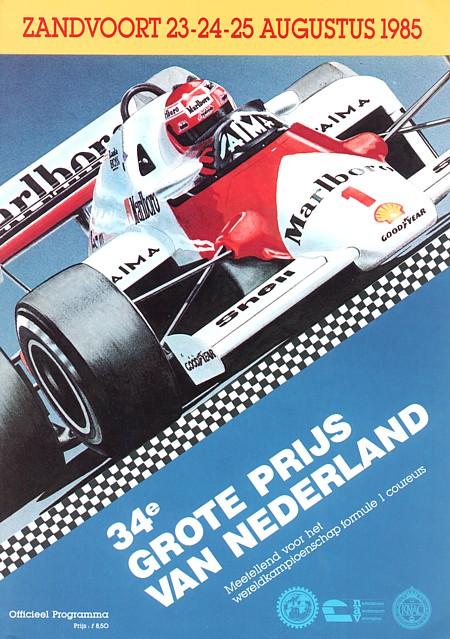 1985 formula 1 programmes the motor racing programme covers project. Black Bedroom Furniture Sets. Home Design Ideas